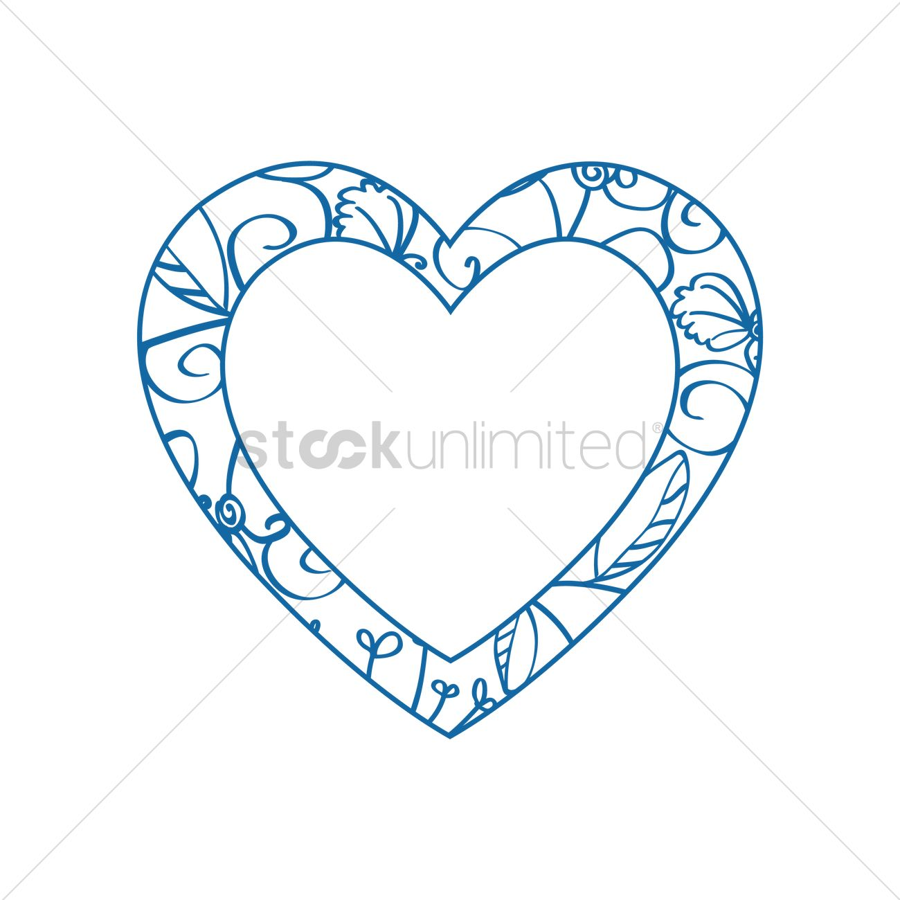 Blue heart frame Vector Image - 1317237 | StockUnlimited