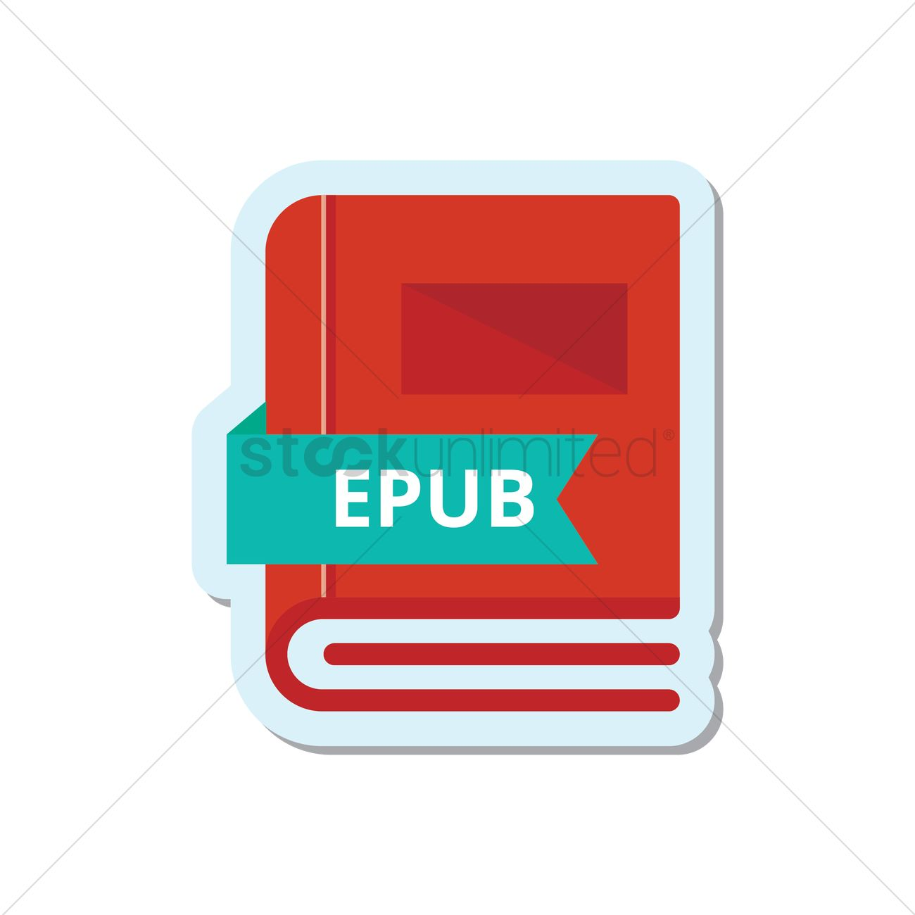 Book with epub format icon Vector Image - 1951977