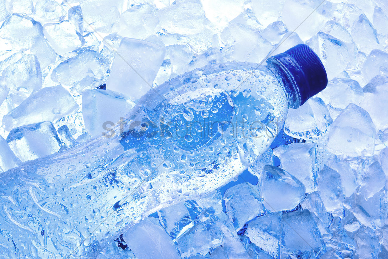 Bottled water with ice cubes Stock Photo - 1686981   StockUnlimited