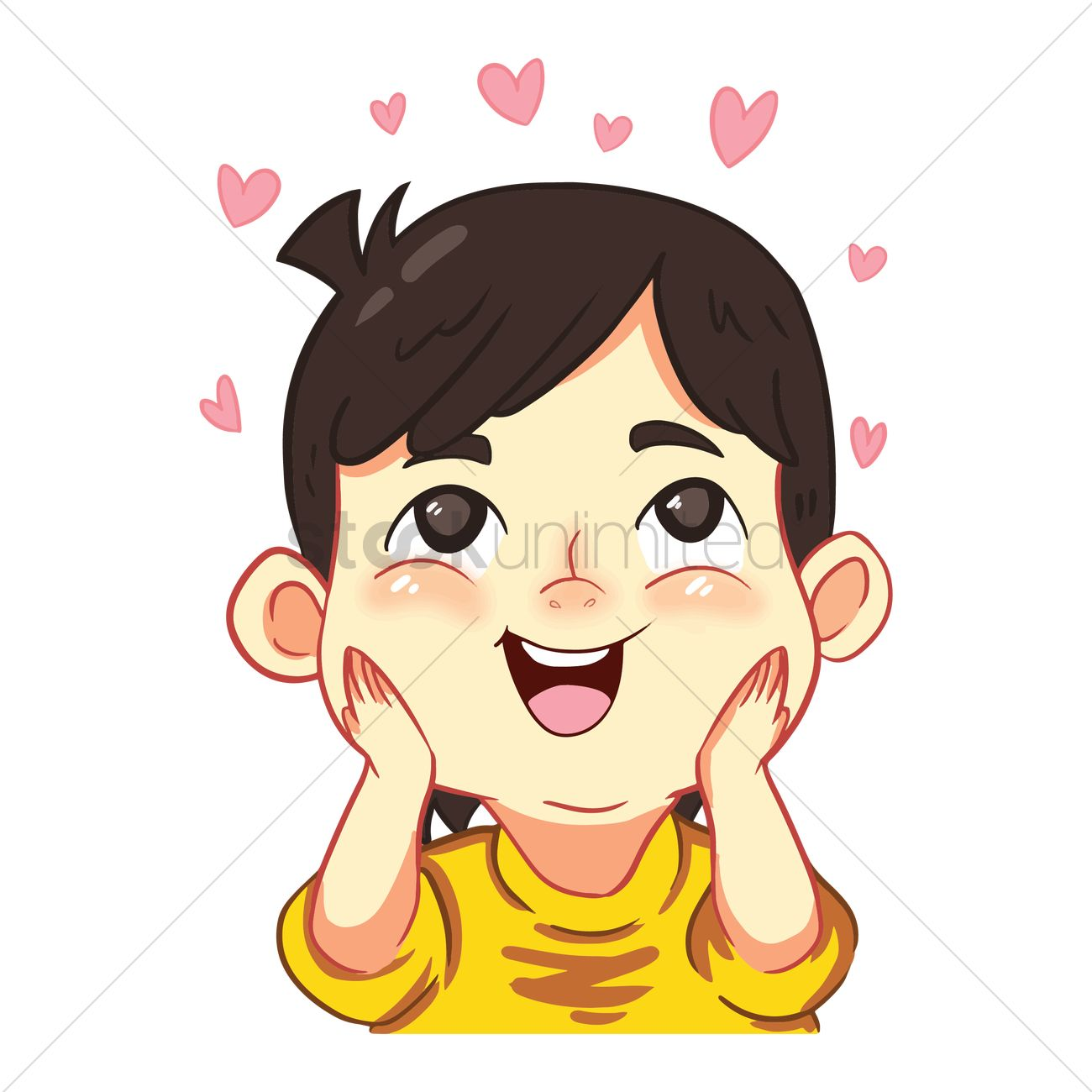 Boy in love Vector Image - 1955009   StockUnlimited