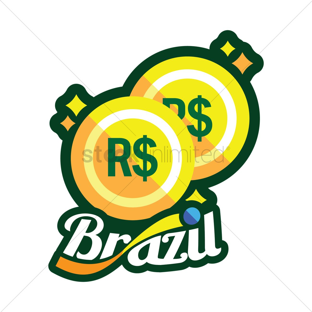 Brazilian Real Coin Vector Image 1571965 Stockunlimited