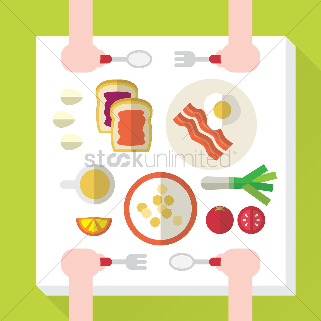 breakfast table setting vector graphic  sc 1 st  StockUnlimited & Breakfast table setting Vector Image - 1410037 | StockUnlimited