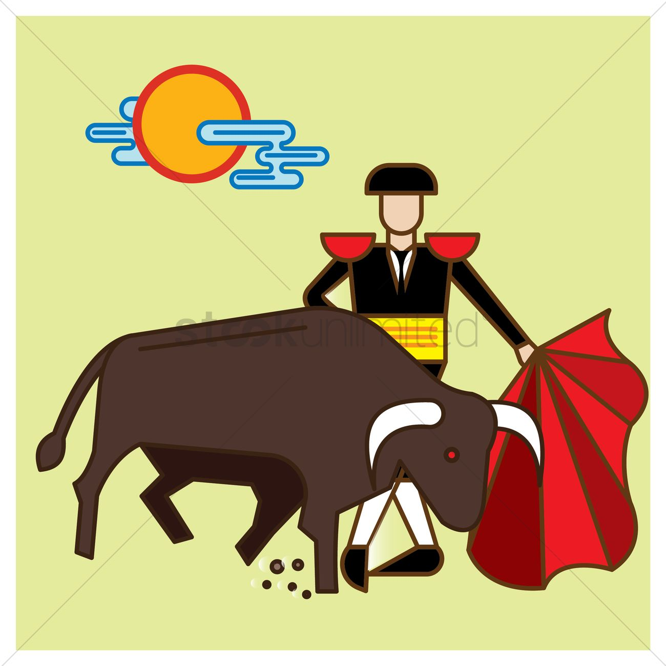Bullfighting Vector Image - 1564929   StockUnlimited