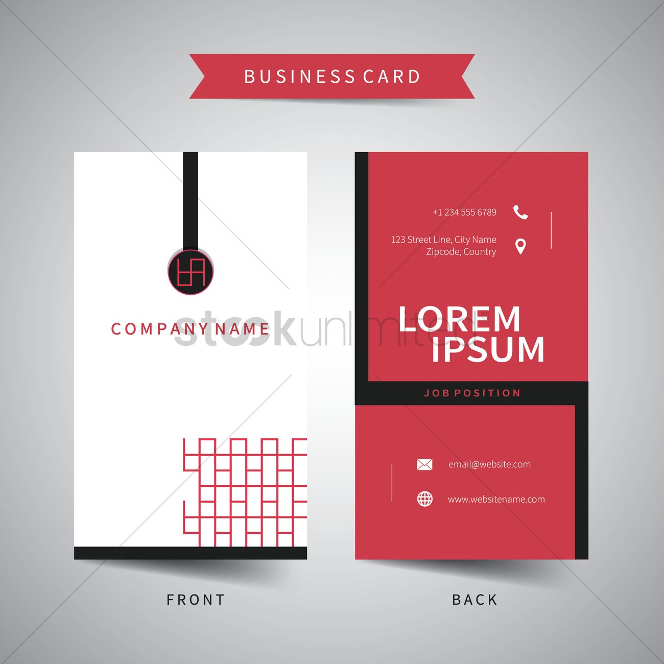 Business card template Vector Image - 1822201 | StockUnlimited