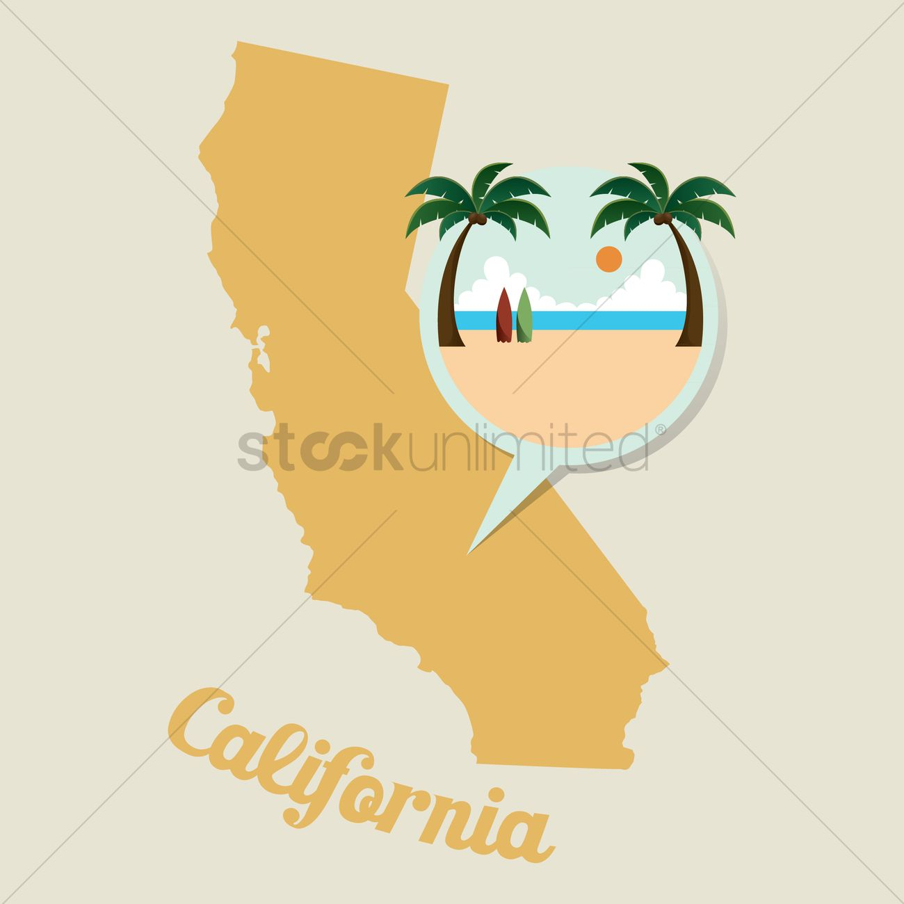 California Map Icon.California Map With Beach Icon Vector Image 1536717 Stockunlimited