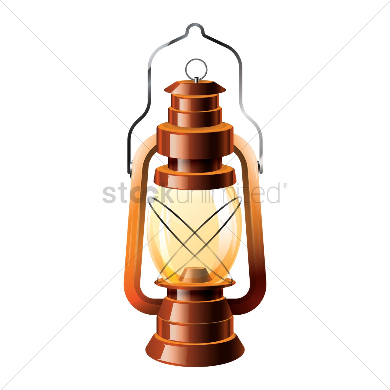 Camping Lantern Vector Graphic