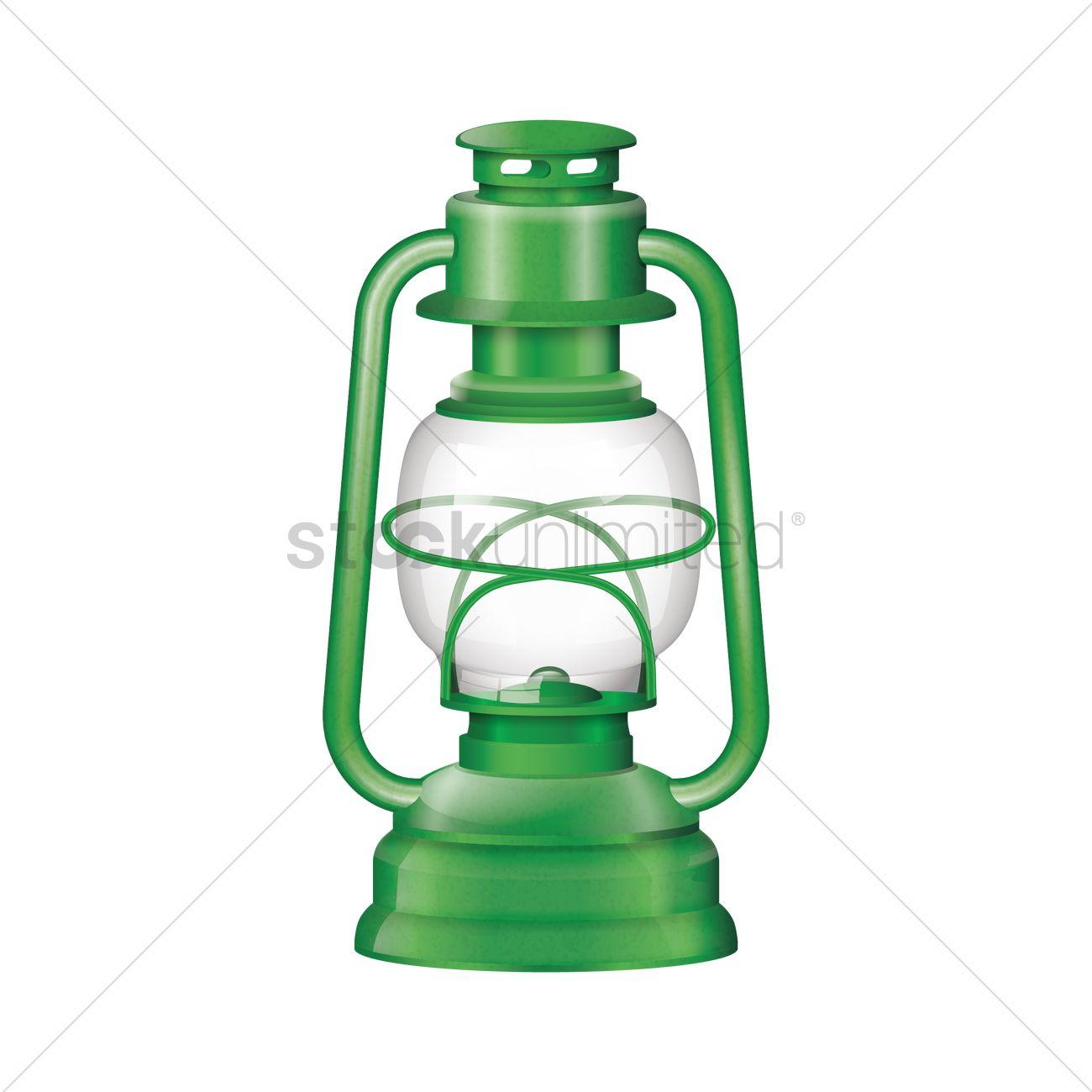 Camping Lantern Vector Graphic