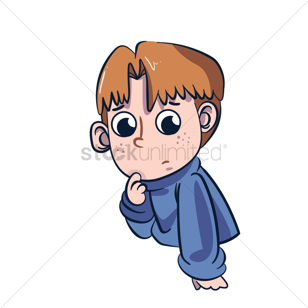 cartoon character thinking vector image - 1957493 | stockunlimited