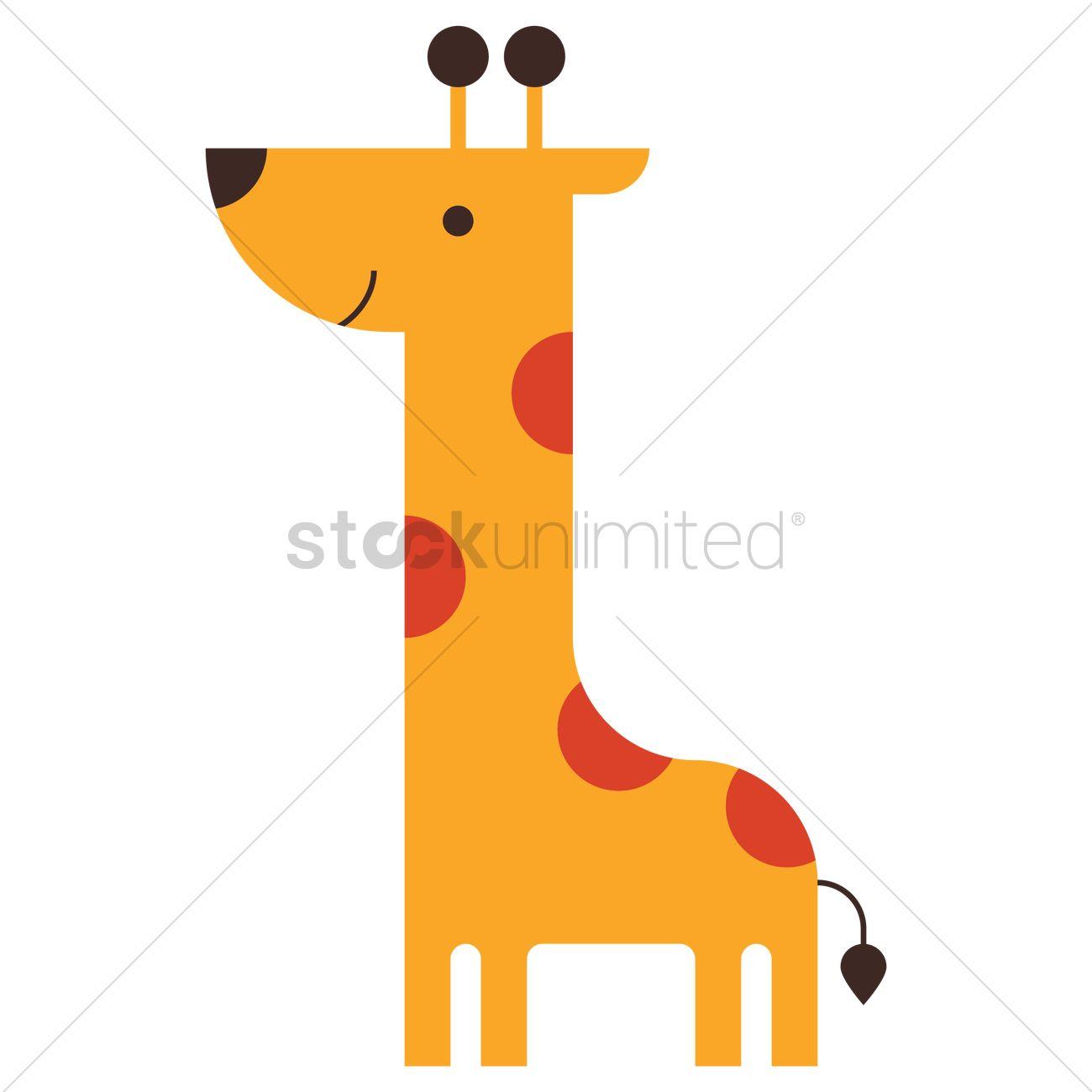 Cartoon Giraffe Vector Image 2100601 Stockunlimited