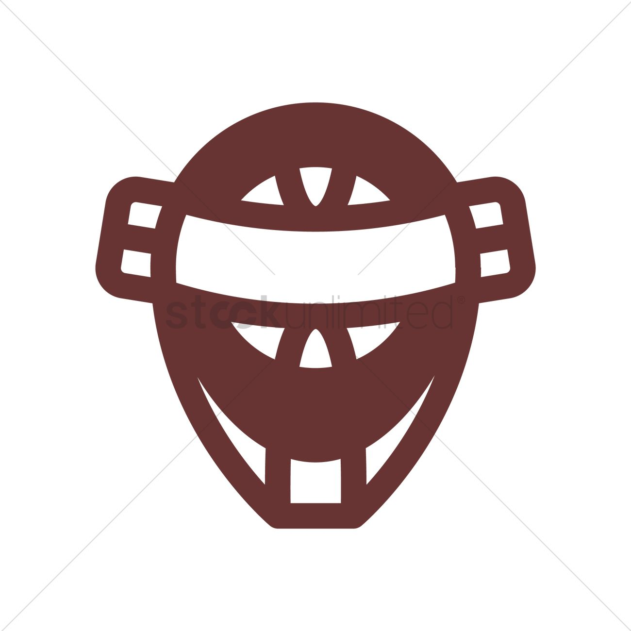 Catcher Mask Vector Image 1978513 Stockunlimited