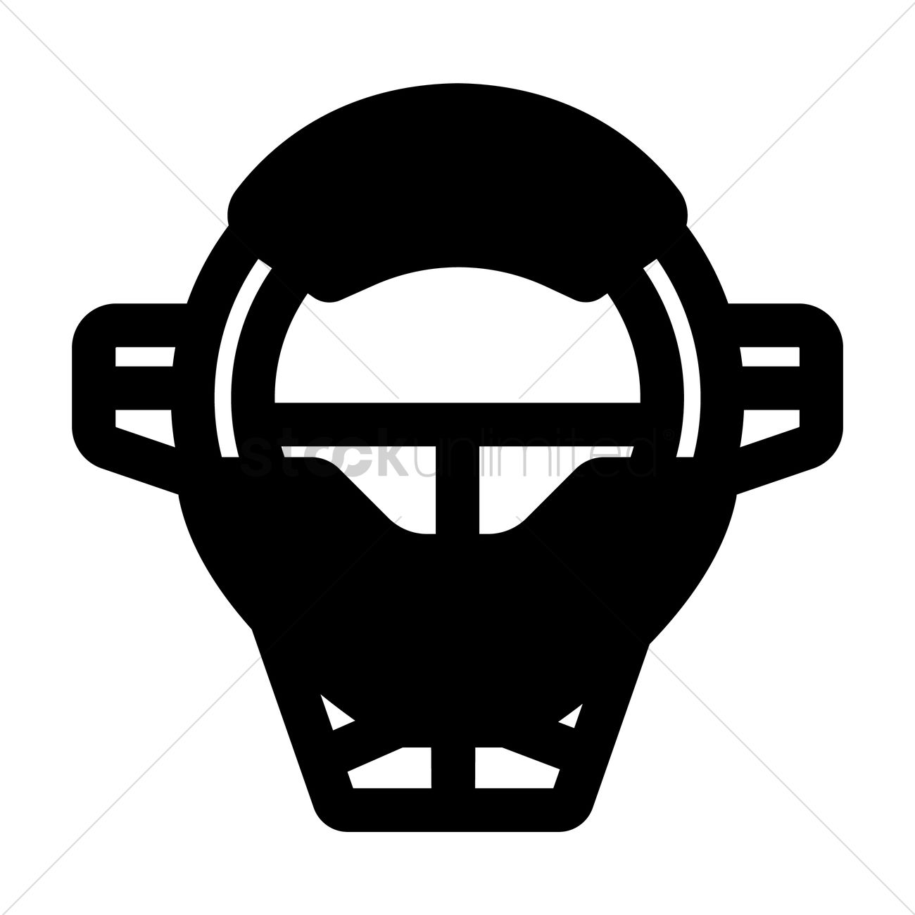 Catcher Mask Vector Image 1988197 Stockunlimited