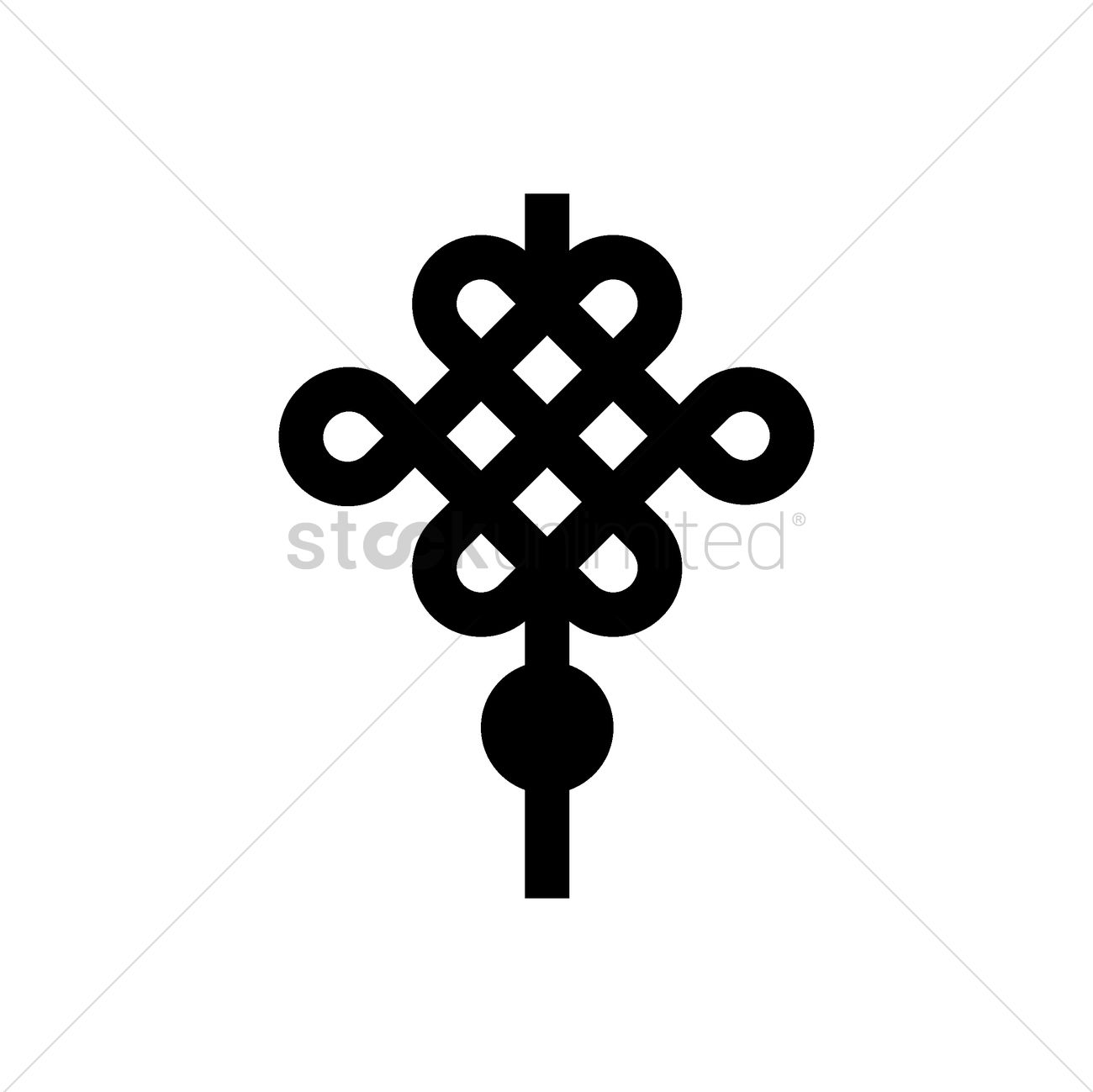 Chinese Knot Decoration Icon Vector Image 1979209 Stockunlimited