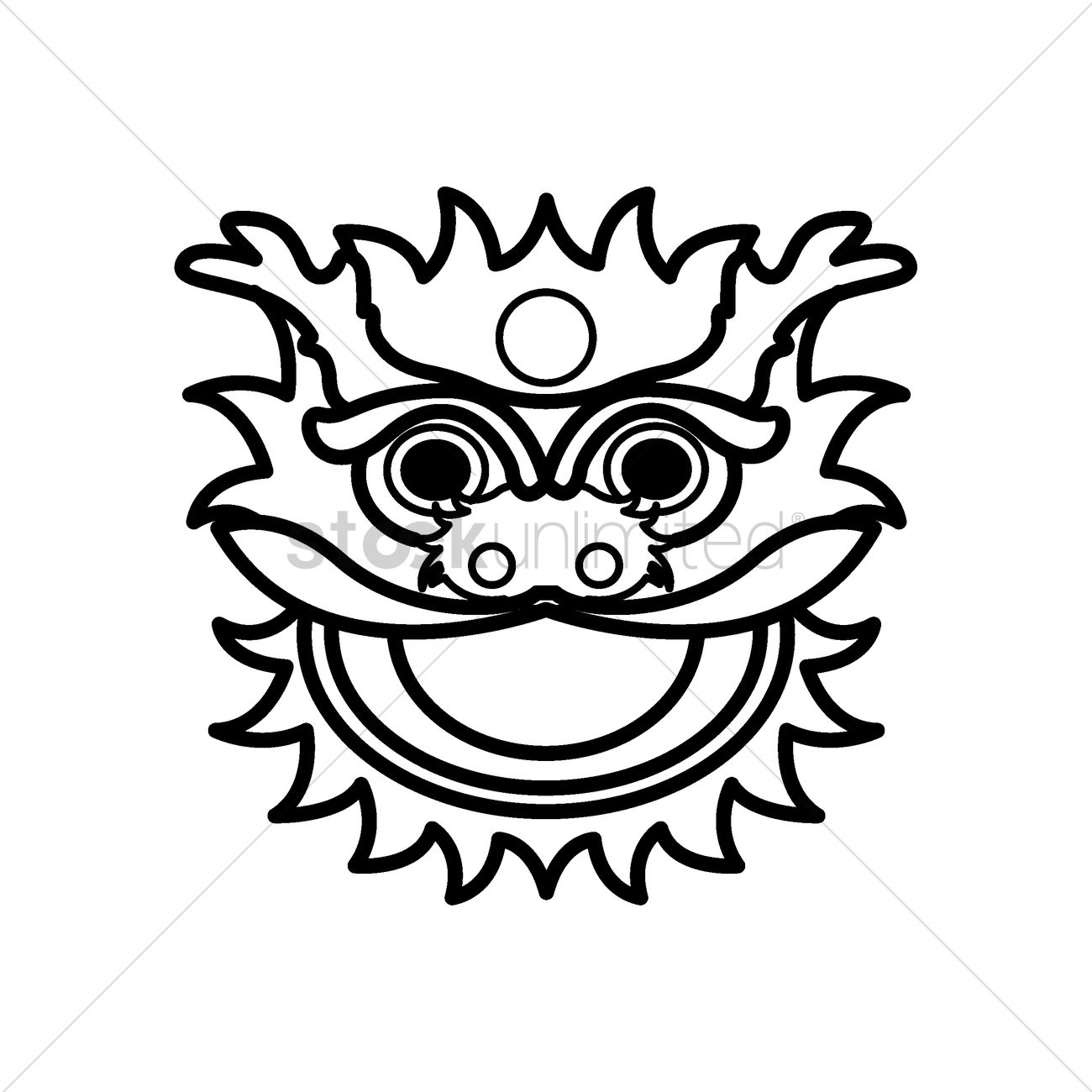 Chinese Lion Dance Head Vector Image 1968405