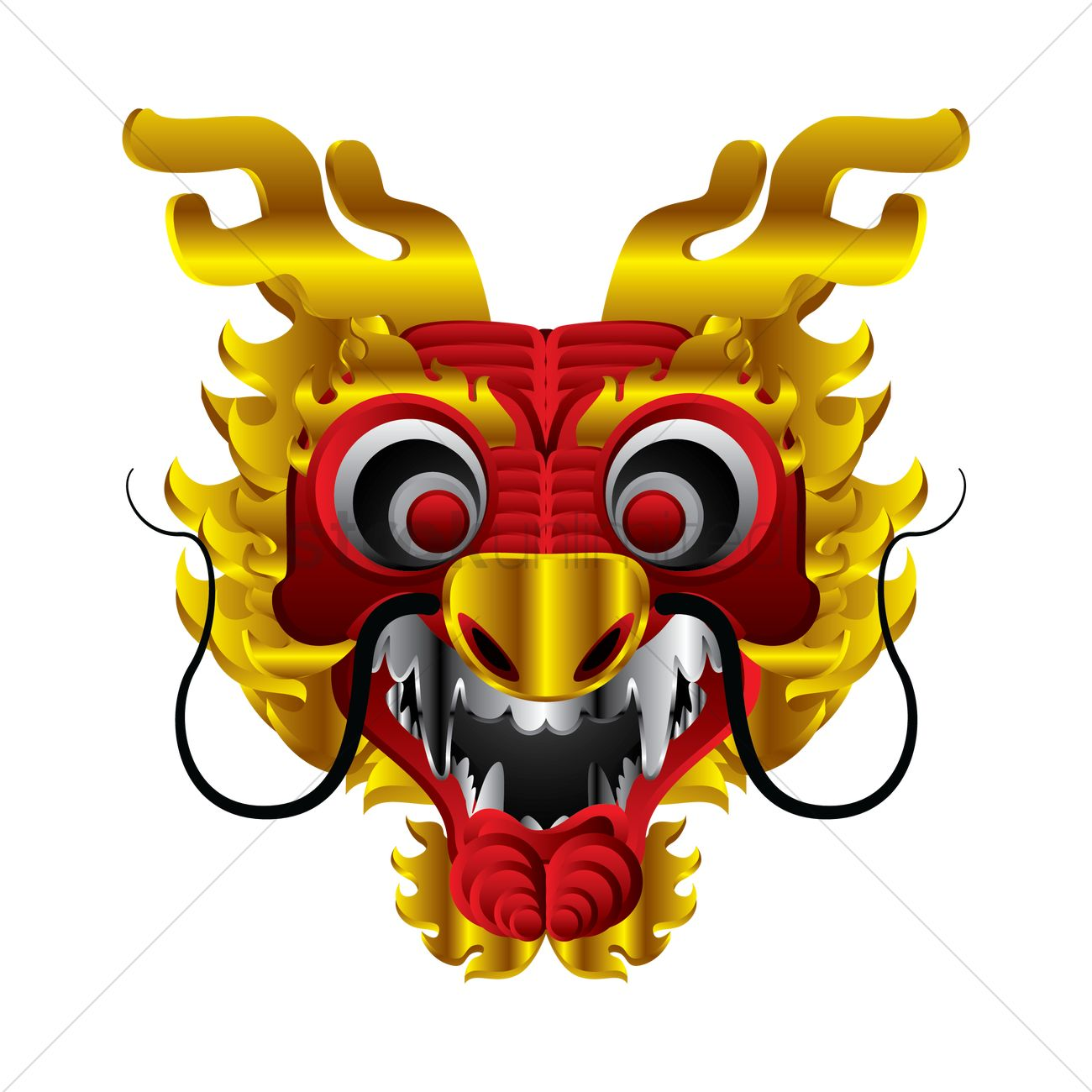 chinese new year dragon head design vector image 1407725