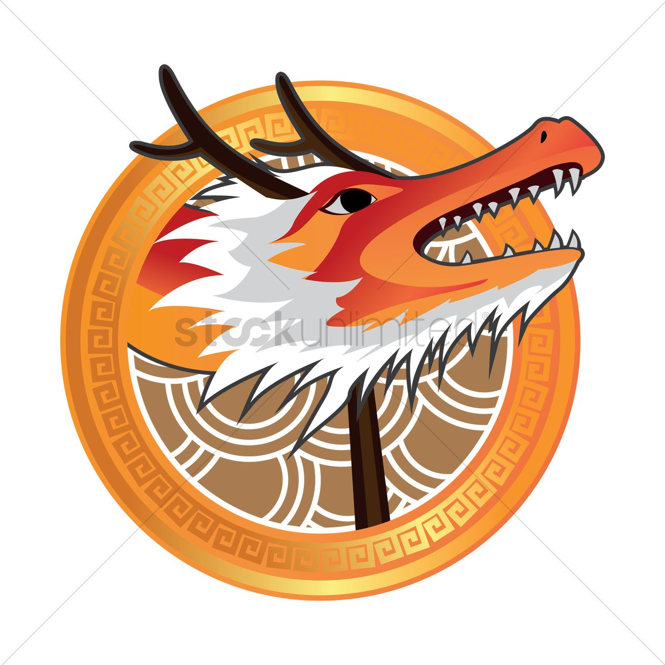 chinese new year dragon head design vector image 1407765