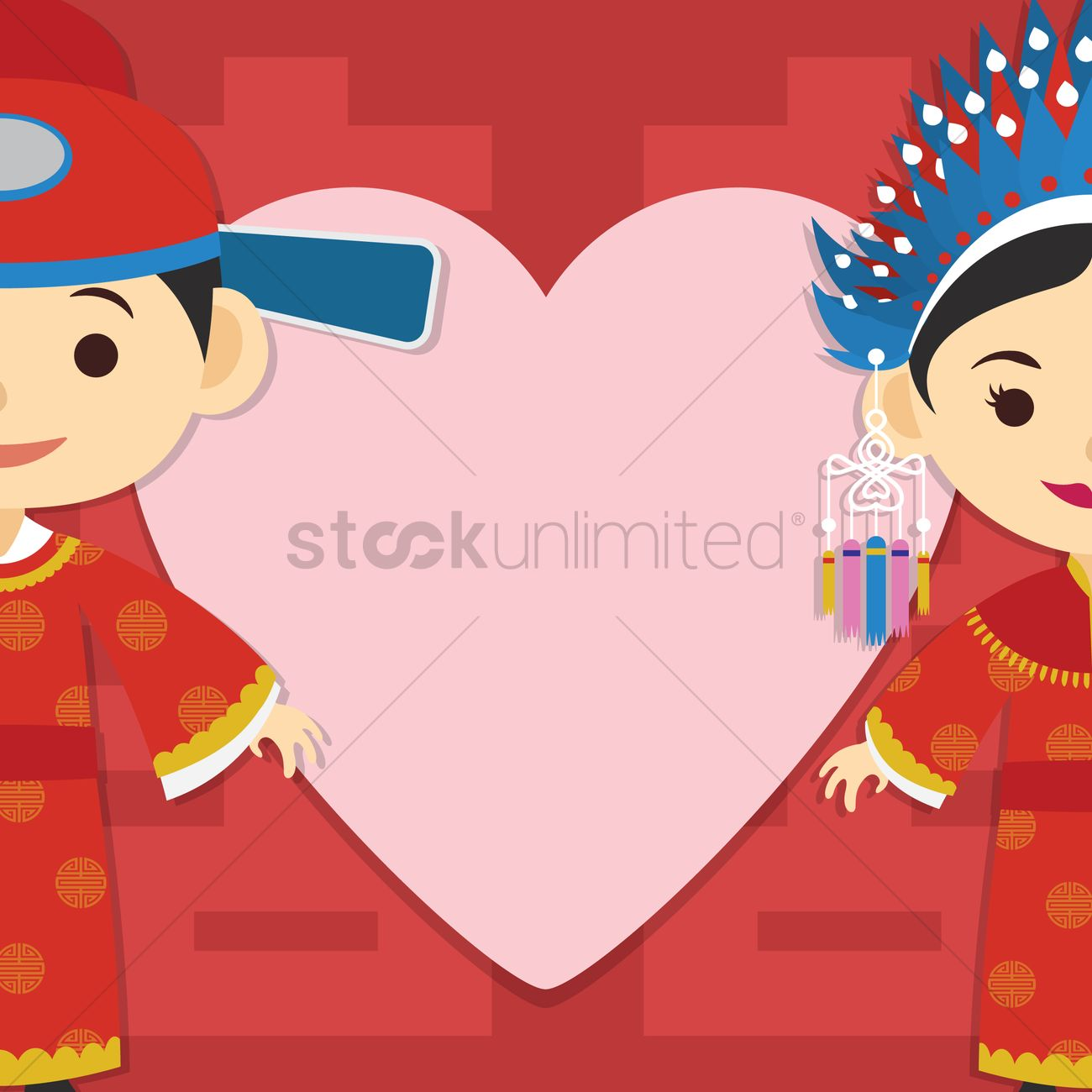 Chinese wedding invitation card design Vector Image - 1244209 ...