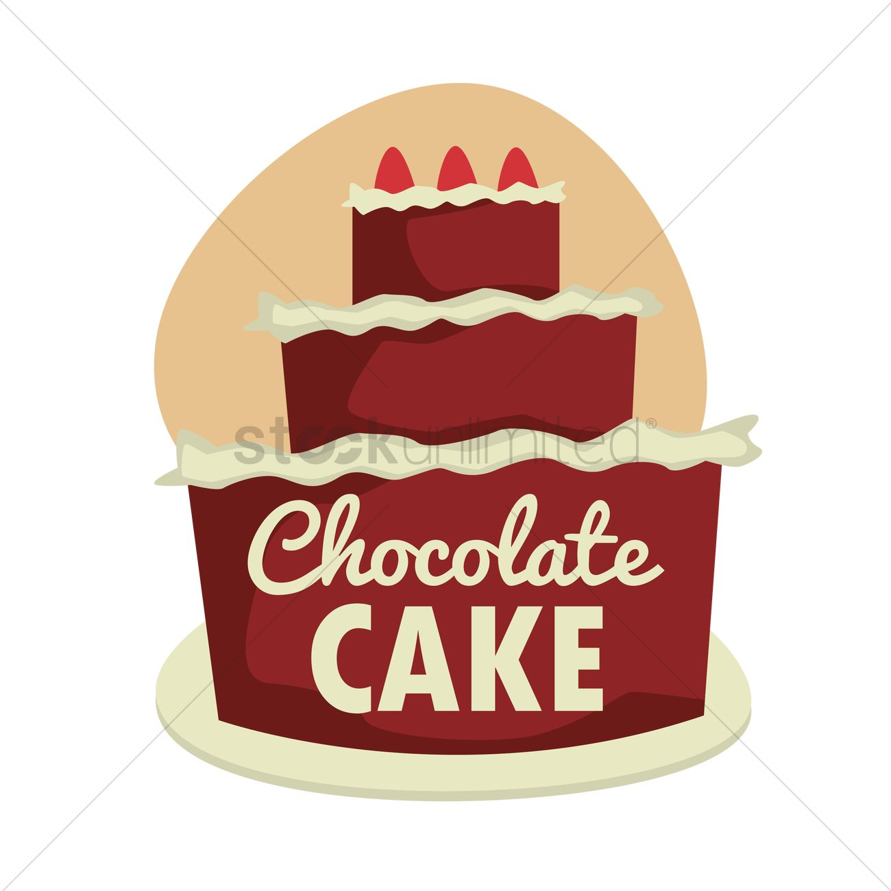 Chocolate Cake Menu Card Design Vector Image 1798681 Stockunlimited