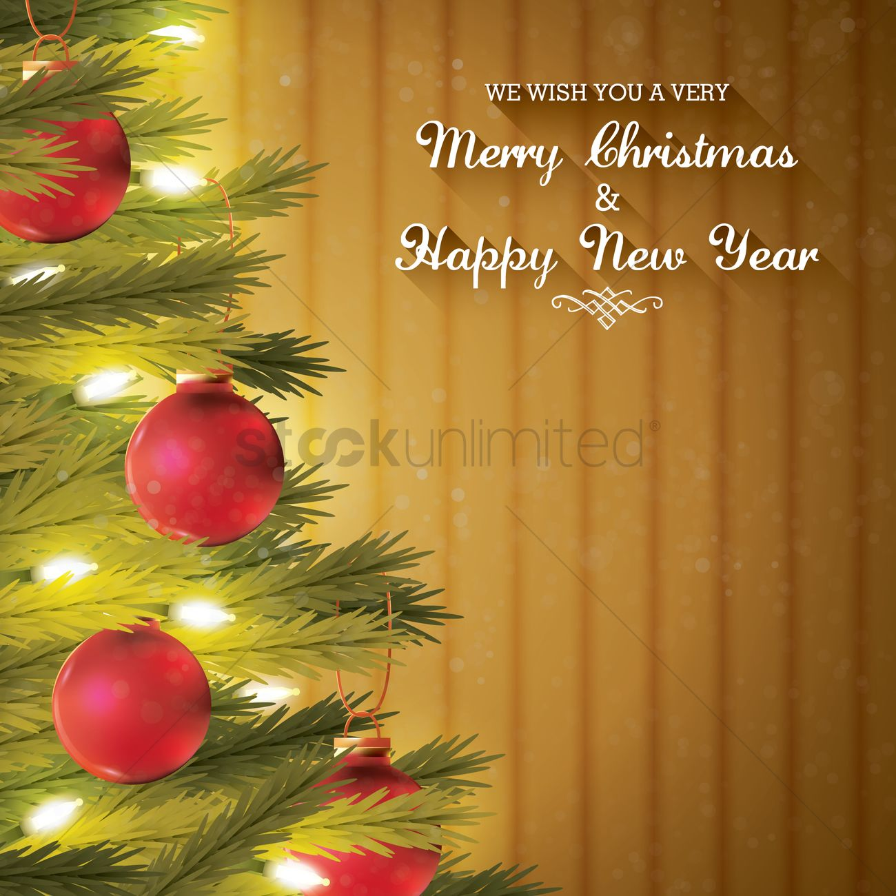Christmas and new year greetings vector image 1626365 stockunlimited christmas and new year greetings vector graphic kristyandbryce Images