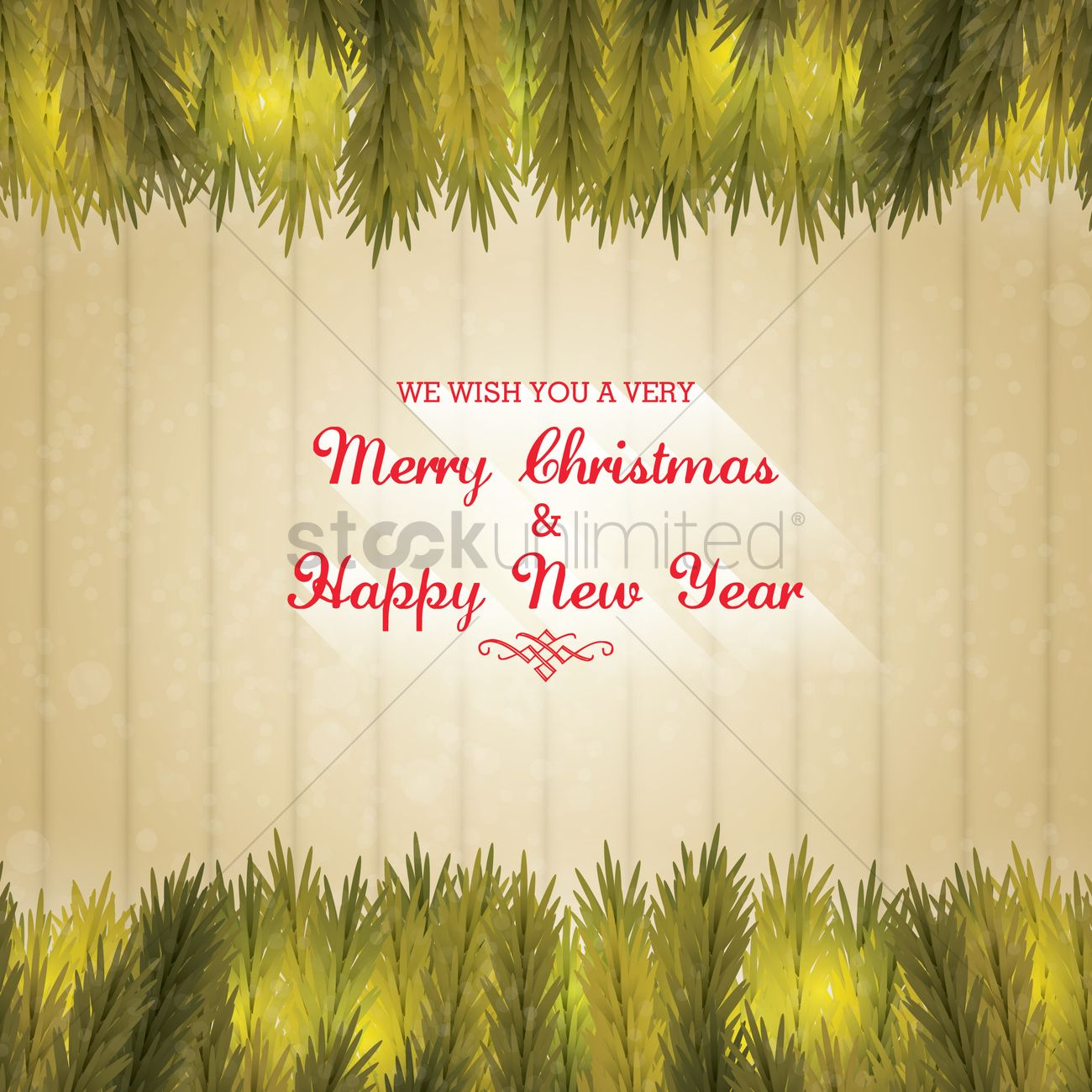 Christmas And New Year Greetings Vector Image 1626369 Stockunlimited