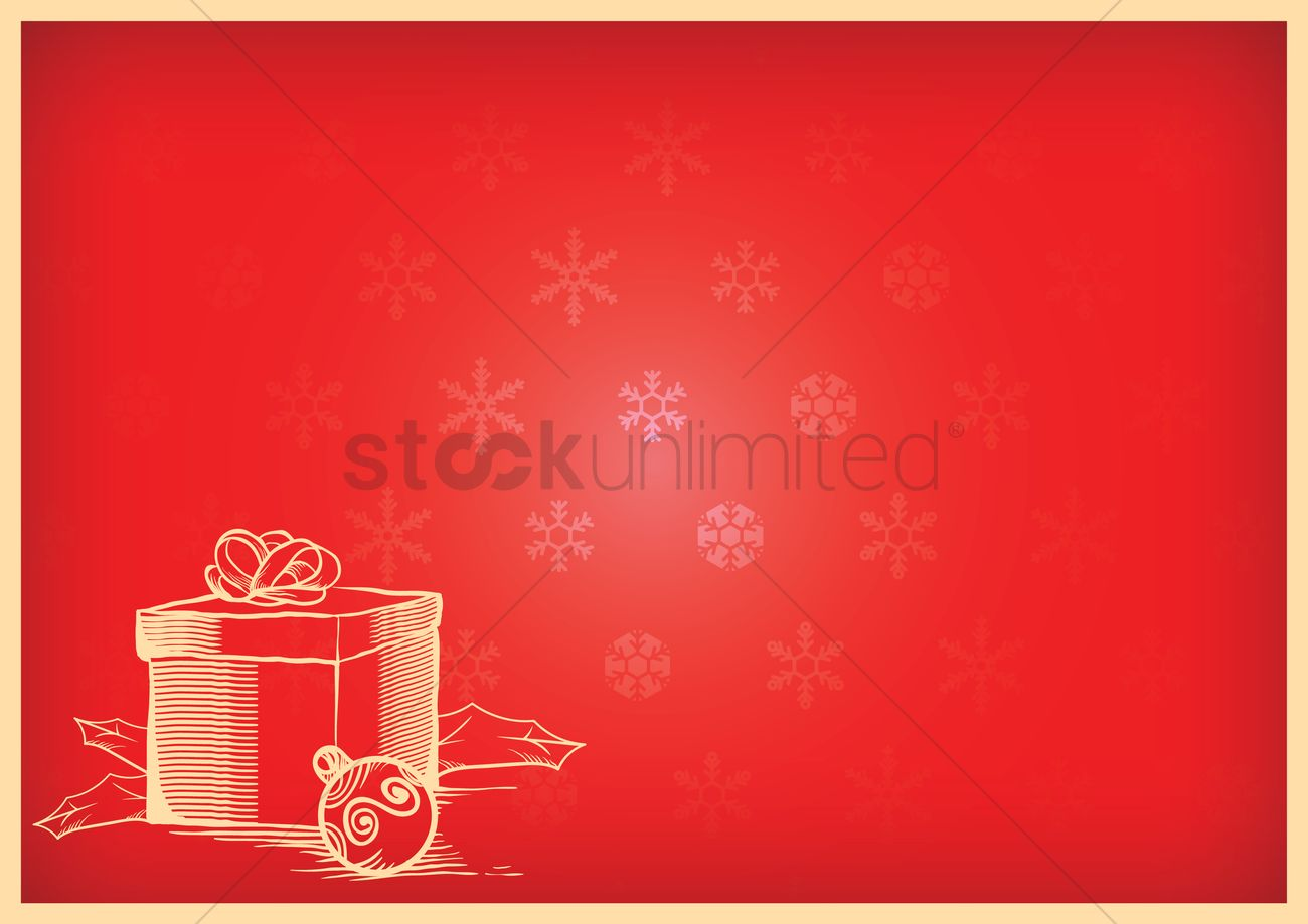 christmas background with a christmas present vector graphic