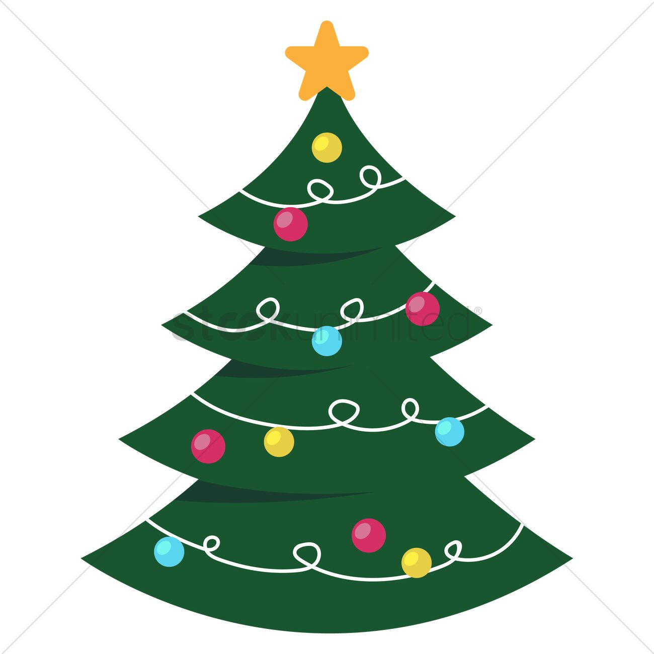 Christmas Tree Vector Image.Christmas Tree Vector Image 2079041 Stockunlimited
