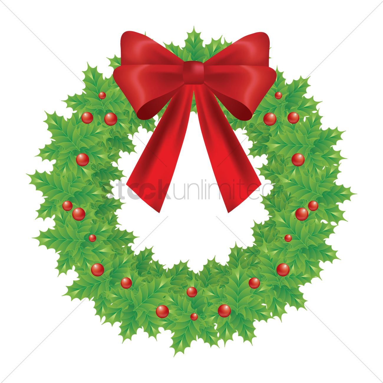 Christmas Wreath Vector.Christmas Wreath Vector Image 1632337 Stockunlimited