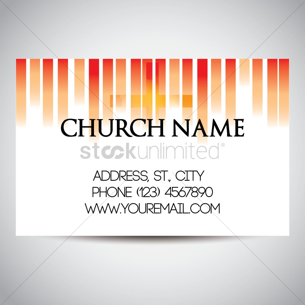 Church Name Card Template Design Vector Image StockUnlimited - Name card template