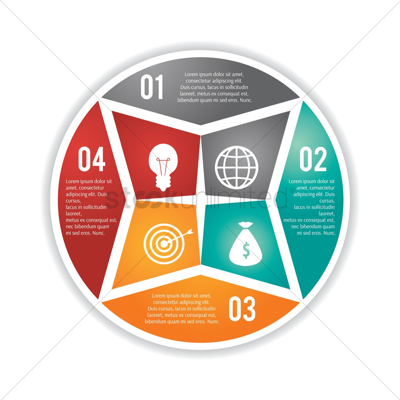 Circle Infographic Flowchart Vector Image 1990597 Stockunlimited