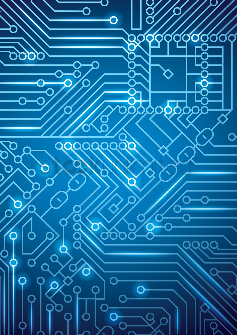 Circuit board design Vector Image - 1648205 | StockUnlimited