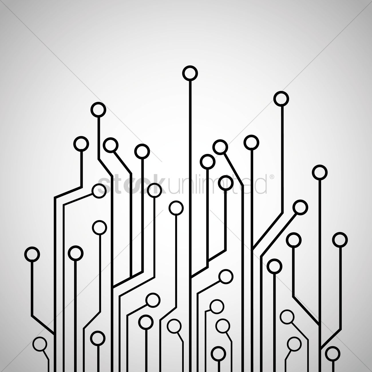 Circuit Board Tree Design Vector Image 1647141 Stockunlimited Background Ai Free Graphics Download Graphic
