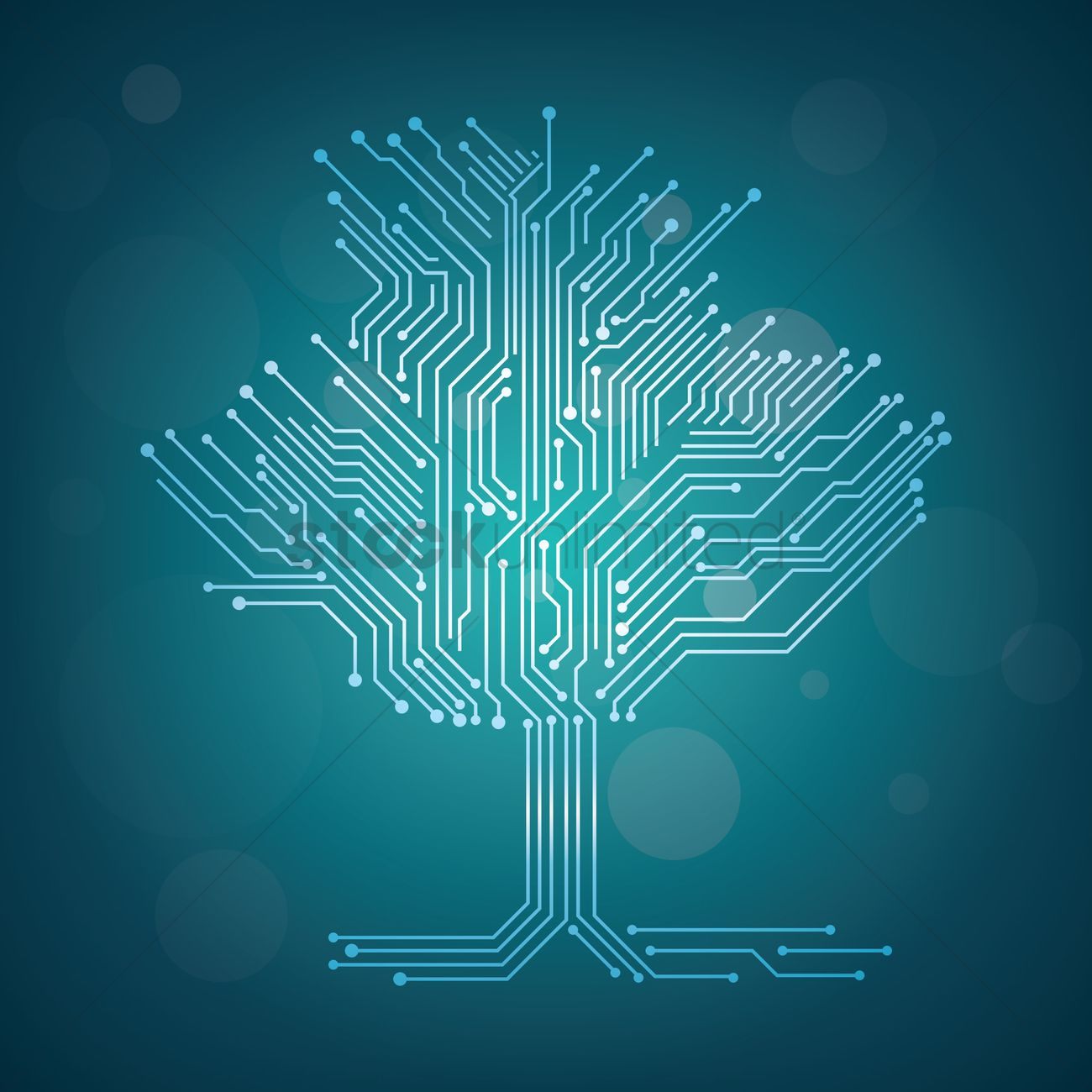 Circuit board tree design Vector Image - 1948229 | StockUnlimited