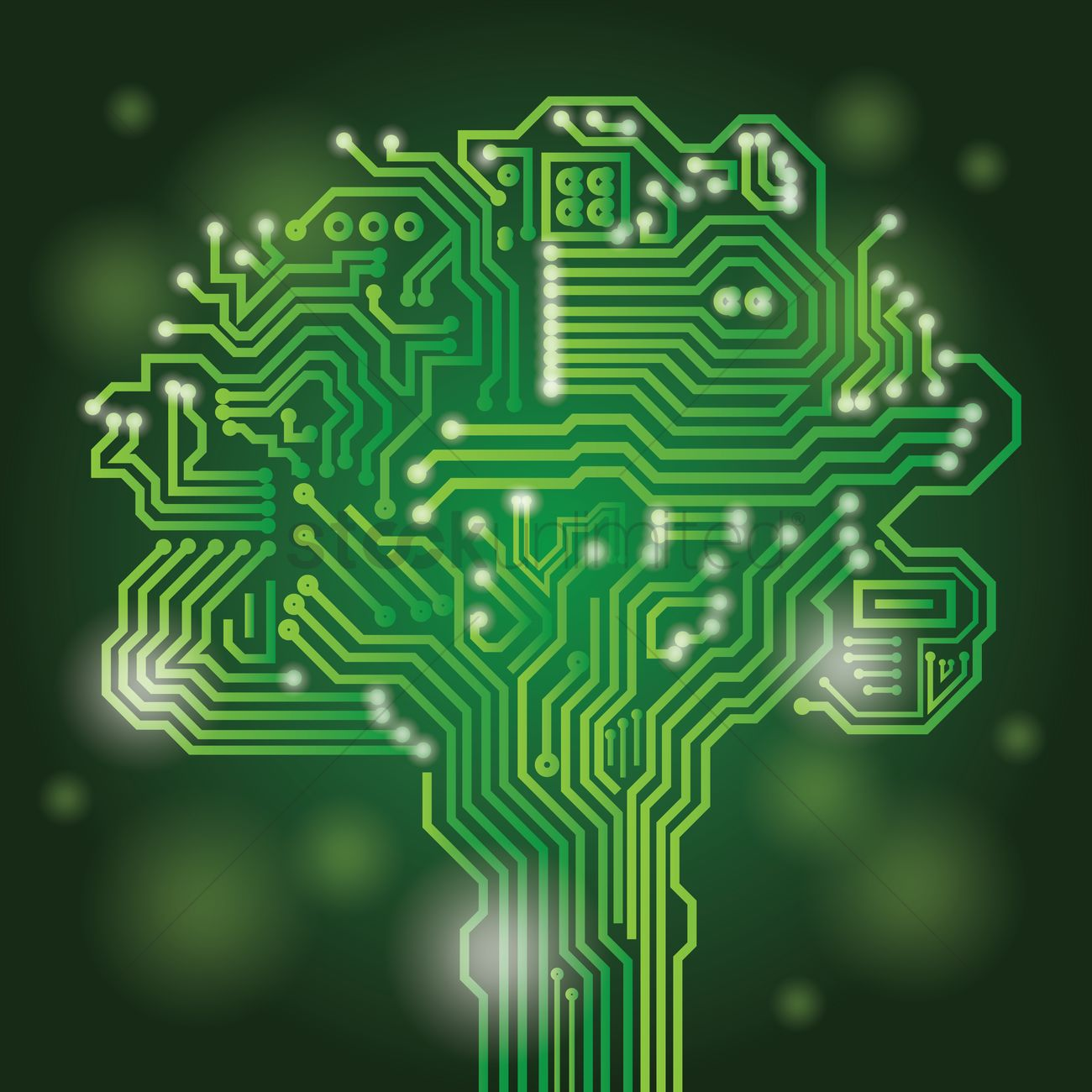 Circuit Board Tree Design Vector Image 1948517 Stockunlimited Electronic Graphic
