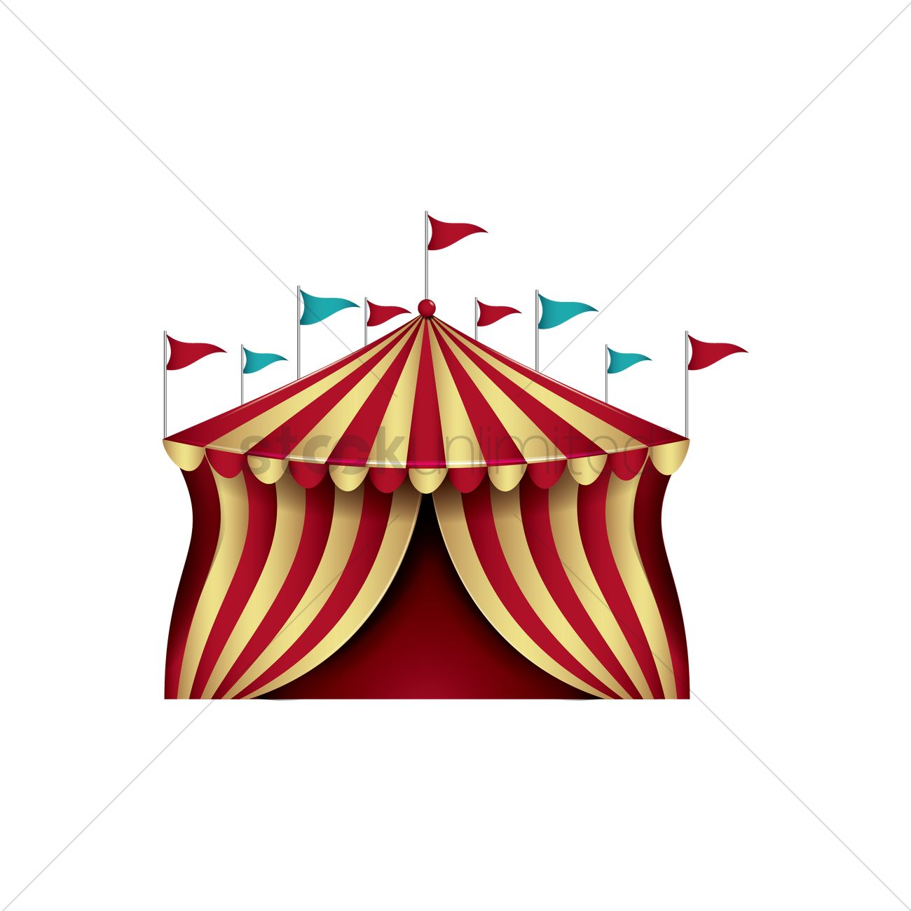 circus tent vector graphic  sc 1 st  StockUnlimited & Circus tent Vector Image - 1989257 | StockUnlimited