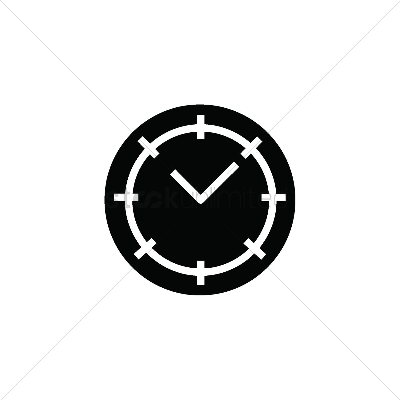 Clock icon Vector Image - 2001861 | StockUnlimited