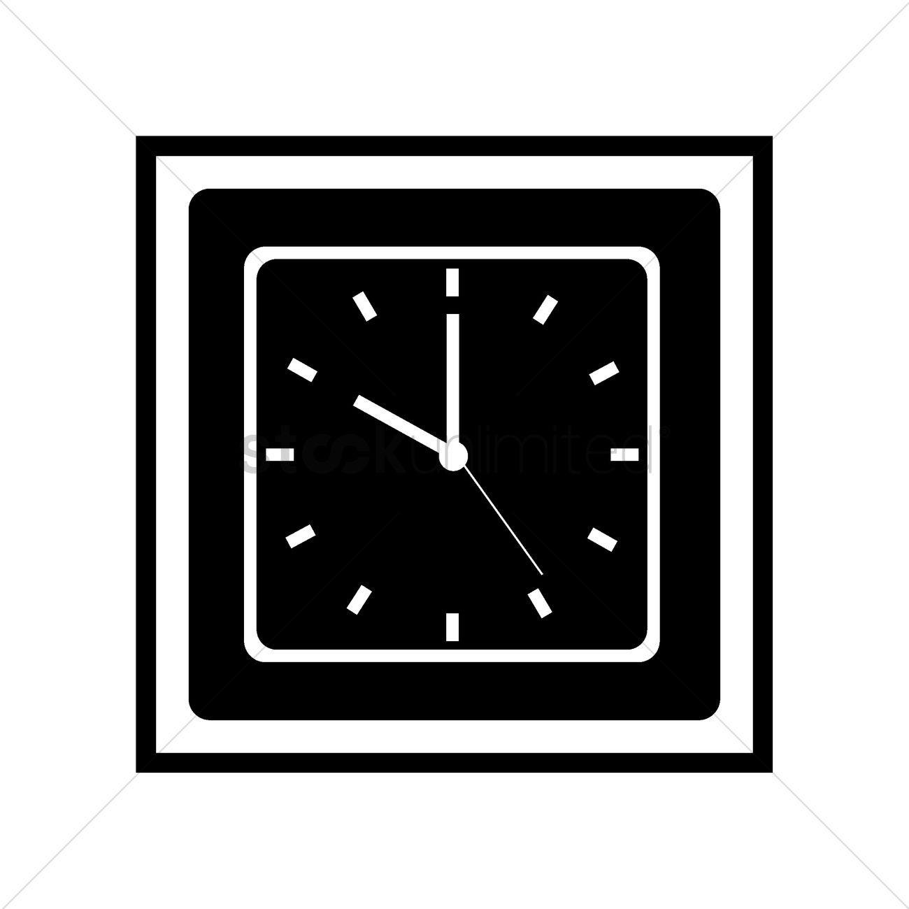 Clock icon Vector Image - 2001961 | StockUnlimited