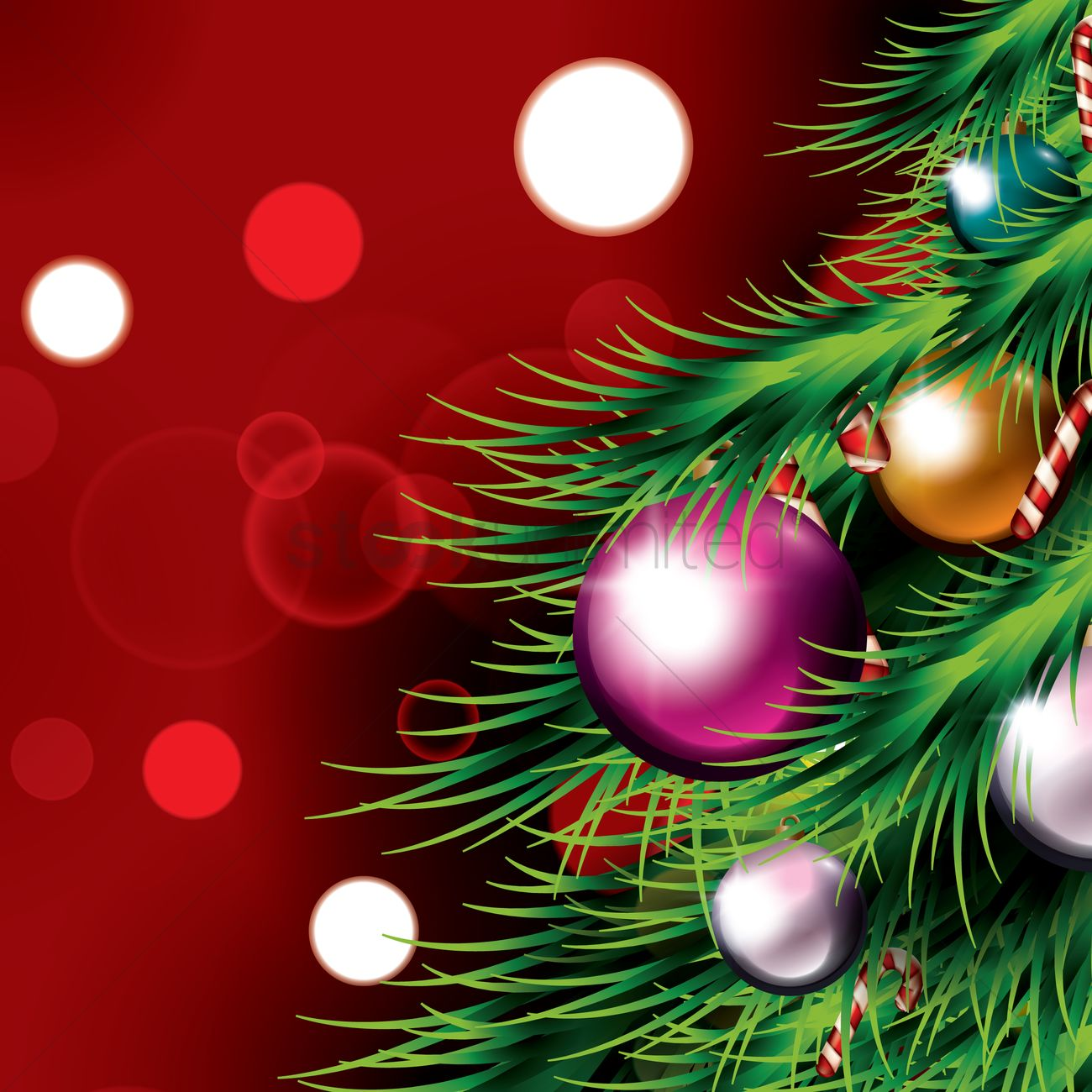 close up of a christmas tree vector image 1954789 stockunlimited