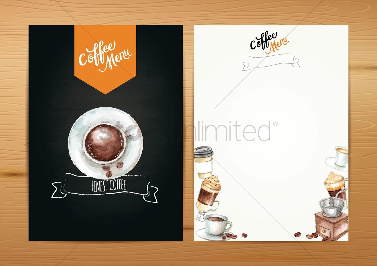 Coffee Menu Template Vector Graphic