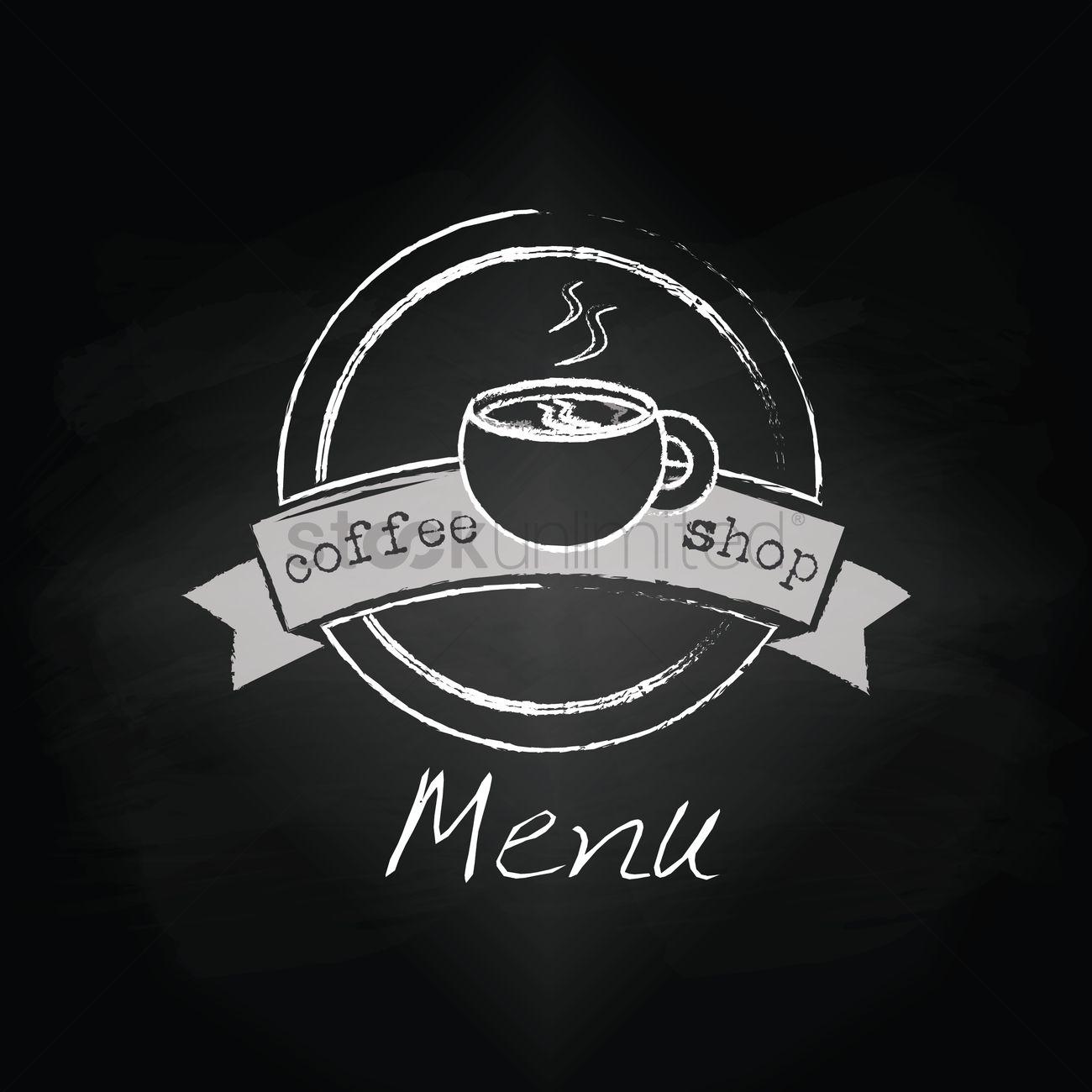 coffee shop menu design vector image 1798401 stockunlimited
