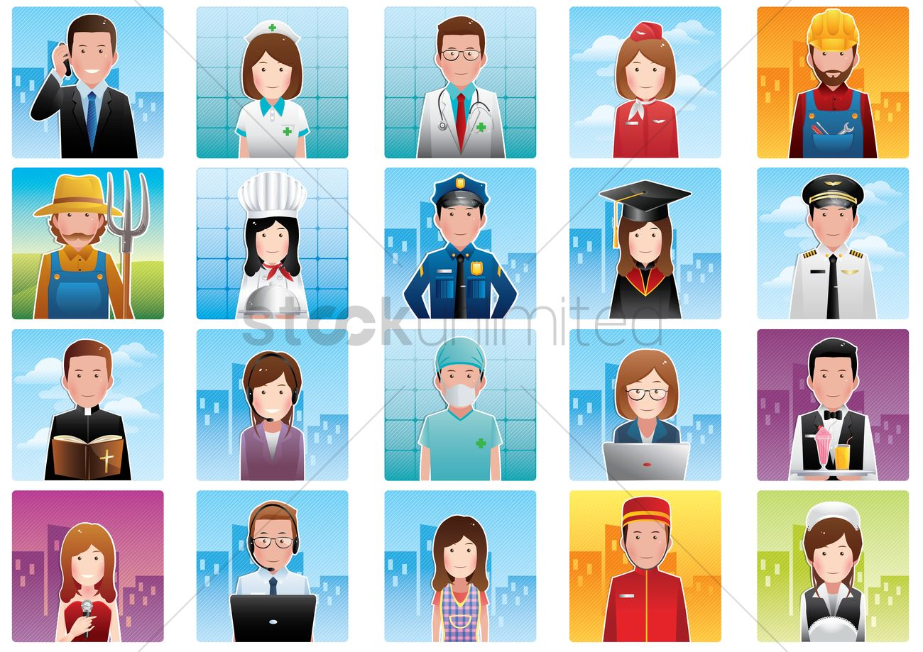 Group Of Multiethnic Diverse Mixed Occupation People Stock Image ...