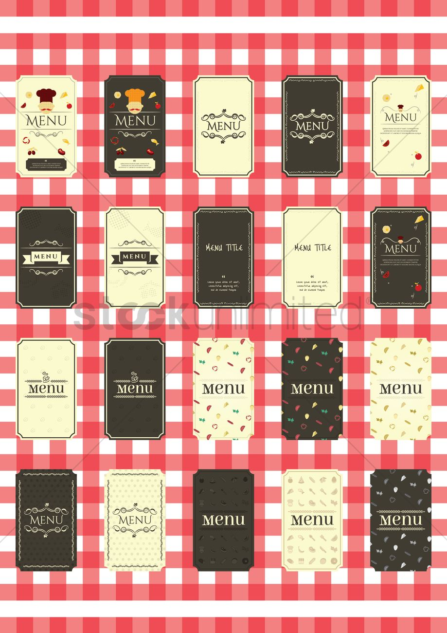 Collection of restaurant menu design vector image