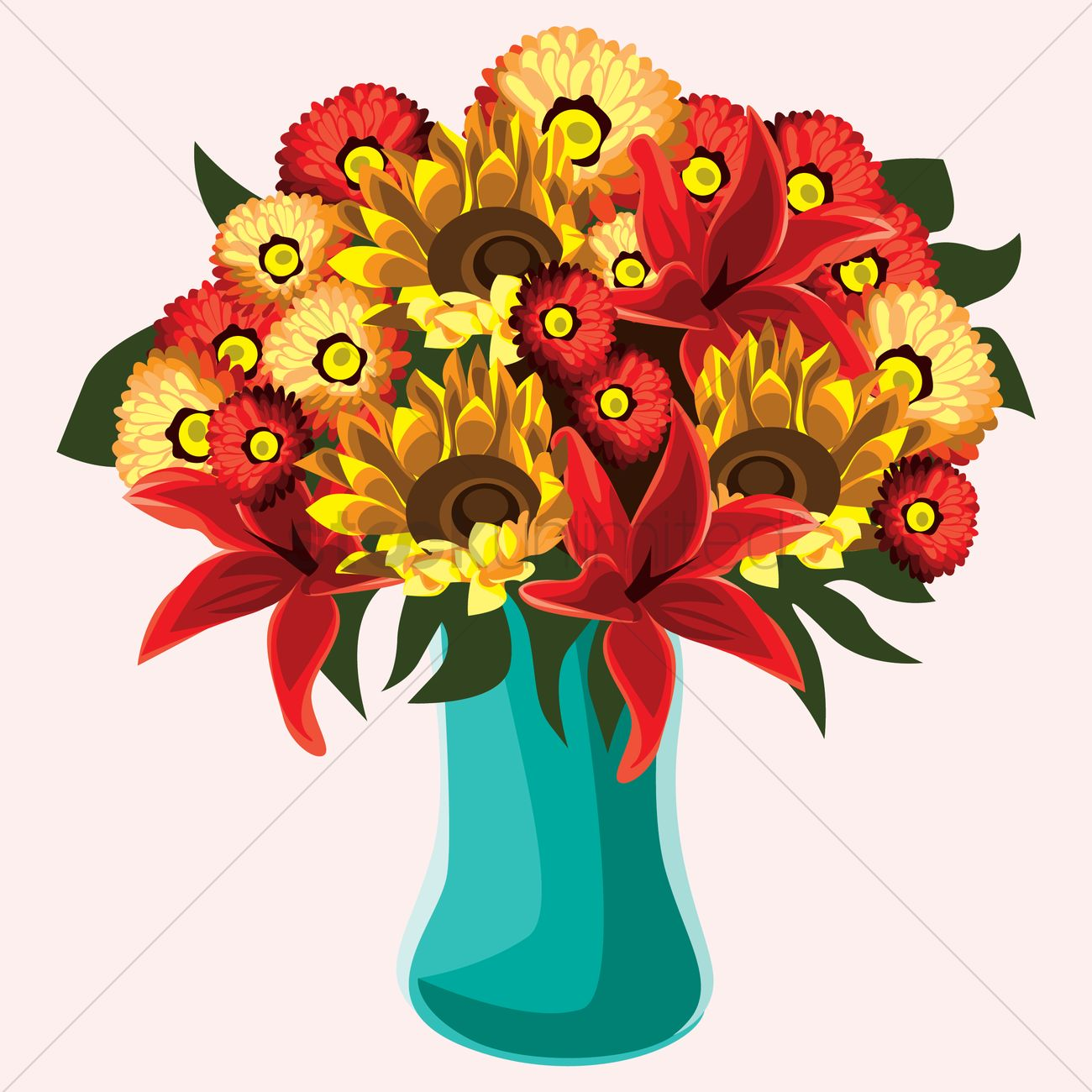 Free color full flowers in a vase vector image 1459737 free color full flowers in a vase vector graphic reviewsmspy