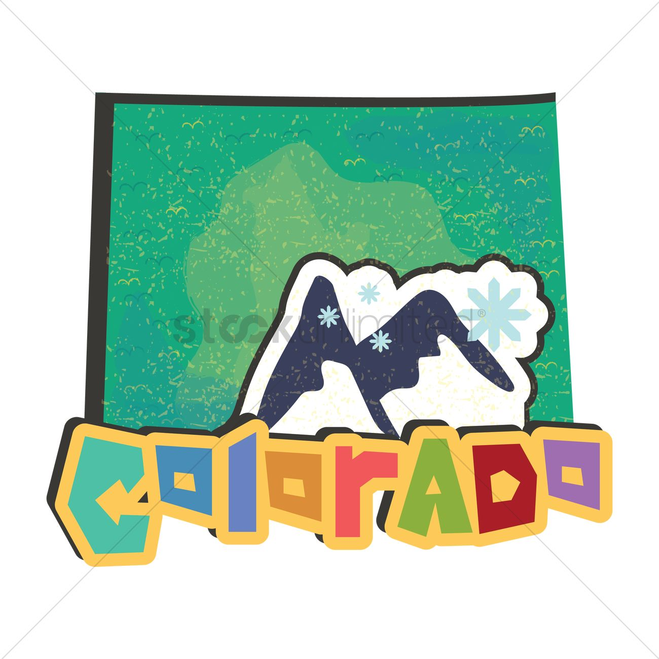 Colorado State Map Vector Graphic