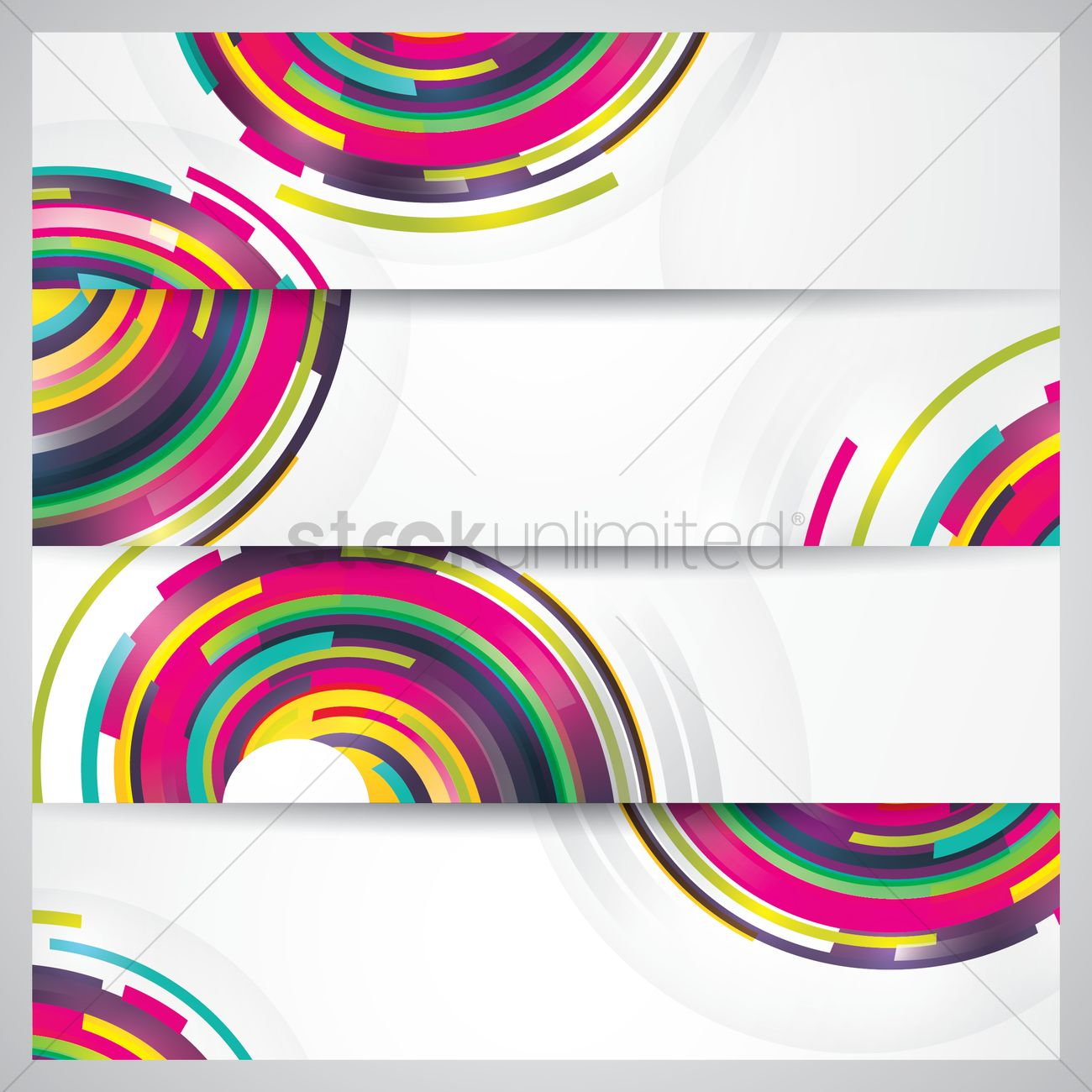colorful banner set vector image 1825889 stockunlimited