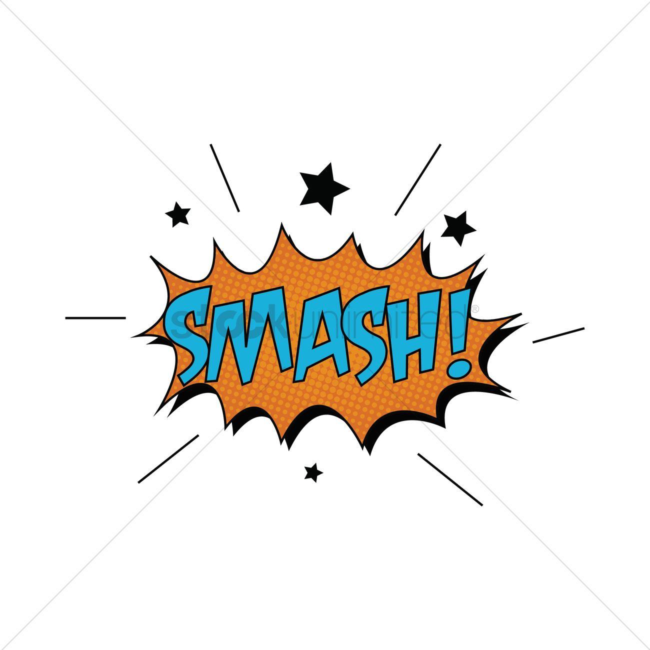 comic bubble smash vector image 1707837 stockunlimited