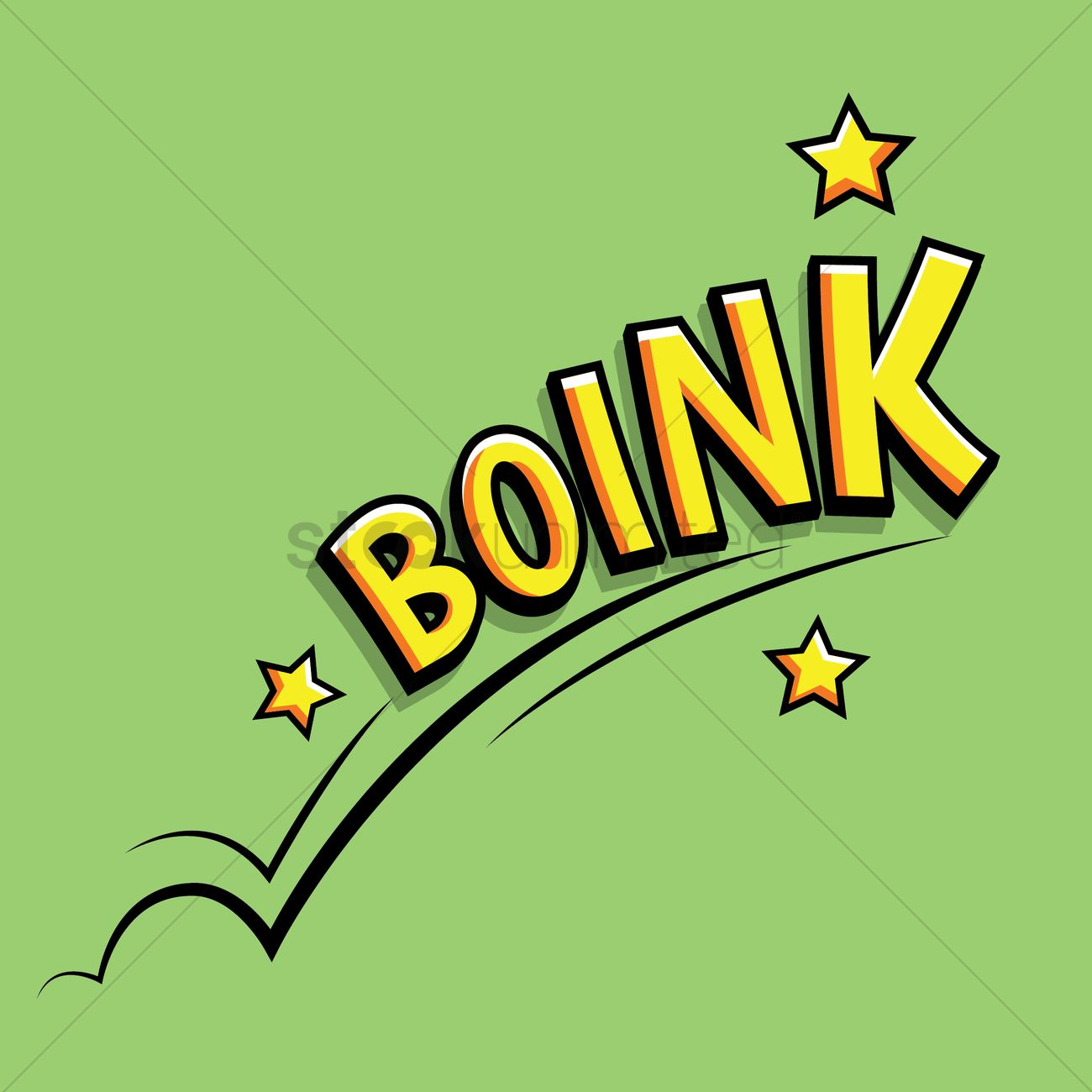 Comic Effect Boink Vector Image 1604041 Stockunlimited
