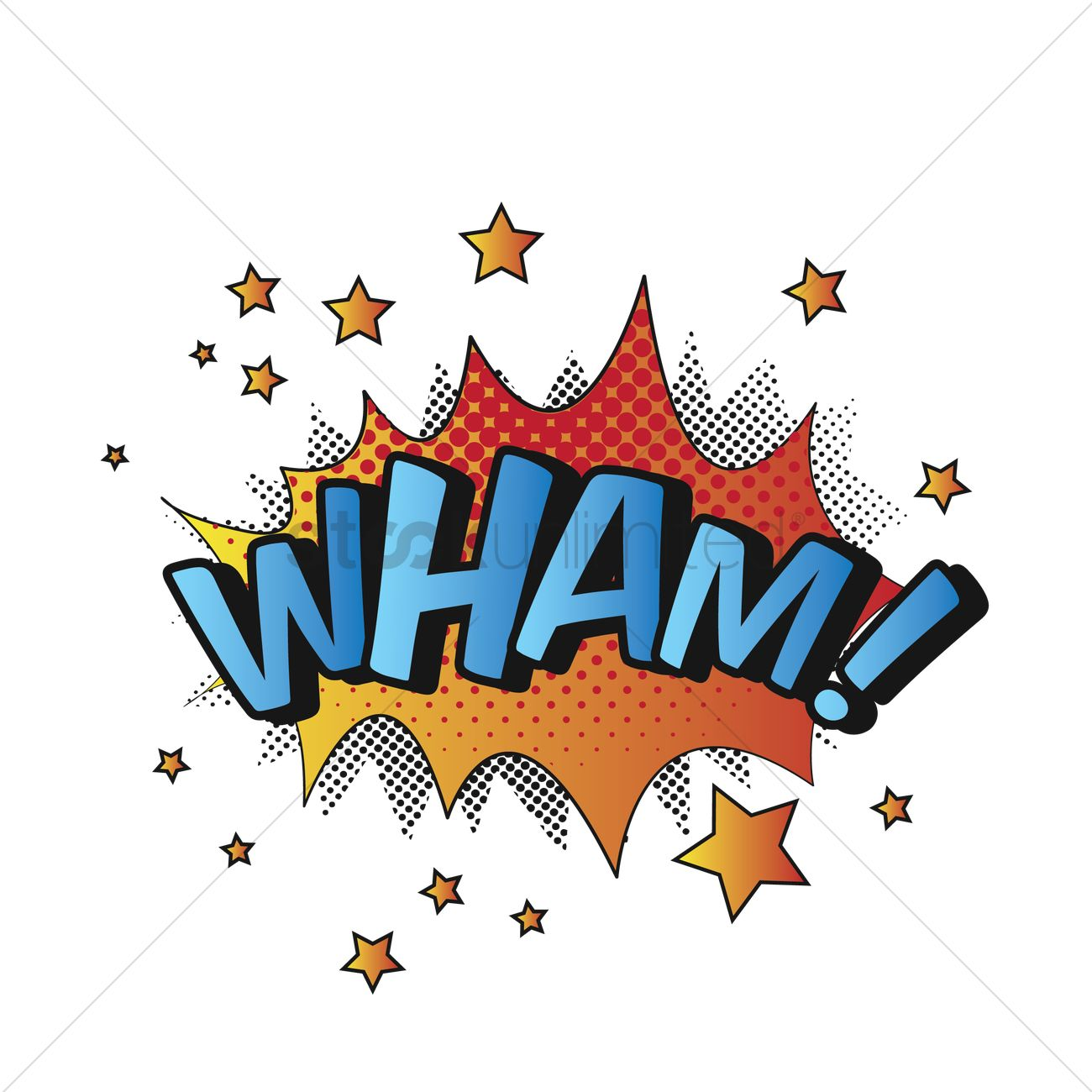 free comic effect wham vector image 1607157 stockunlimited