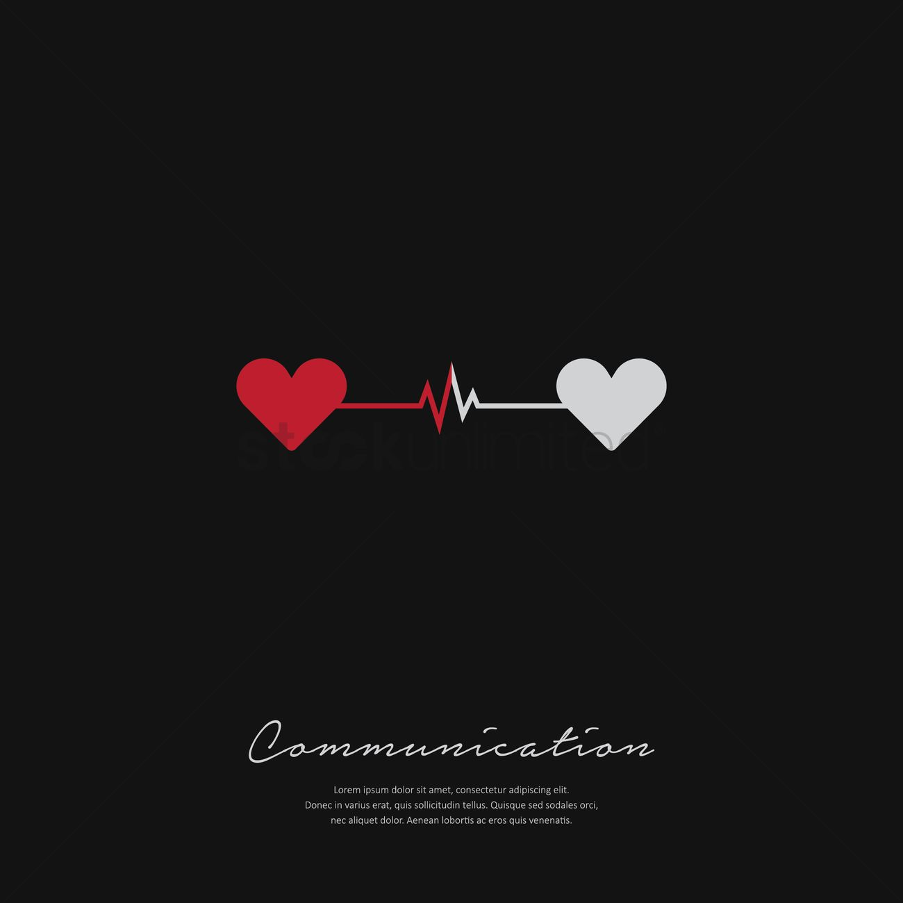 Communication With Love Background Vector Image 1798033 Stockunlimited