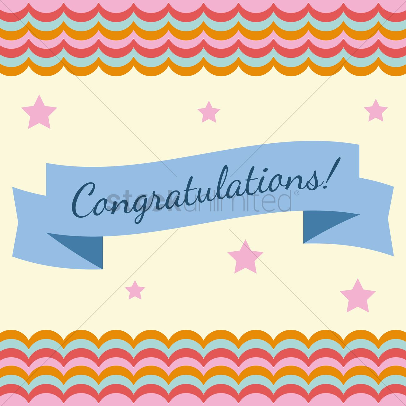 congratulations banner vector image 1398849 stockunlimited