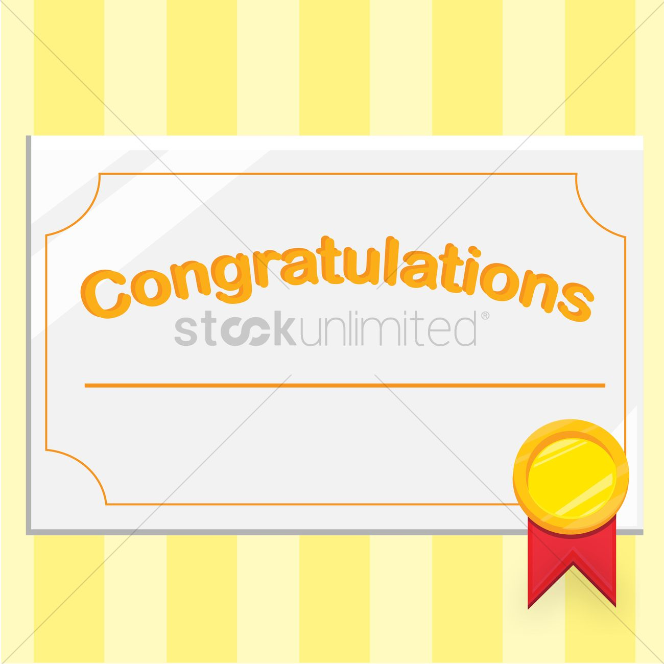congratulations certificate vector image 1428525 stockunlimited