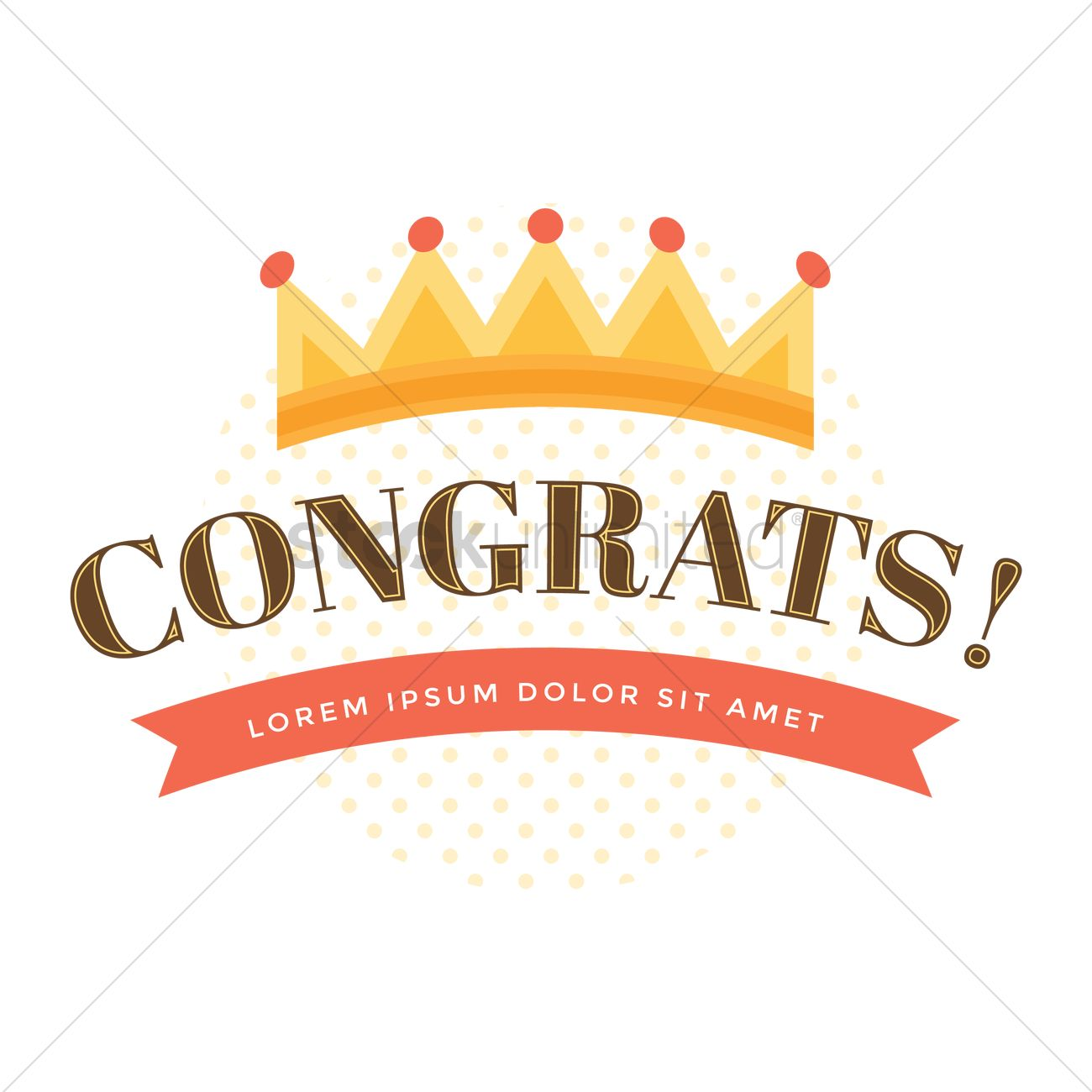 congratulations design vector image 1924069 stockunlimited